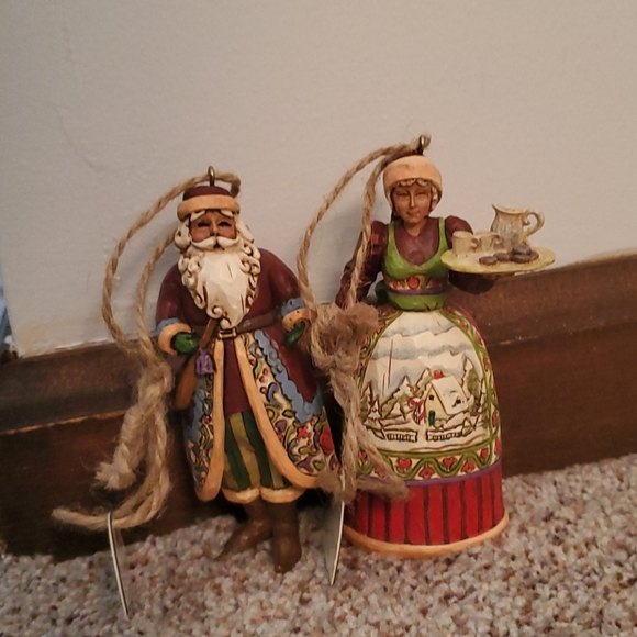 Jim Shore Santa/Mrs. Claus Hanging Ornament